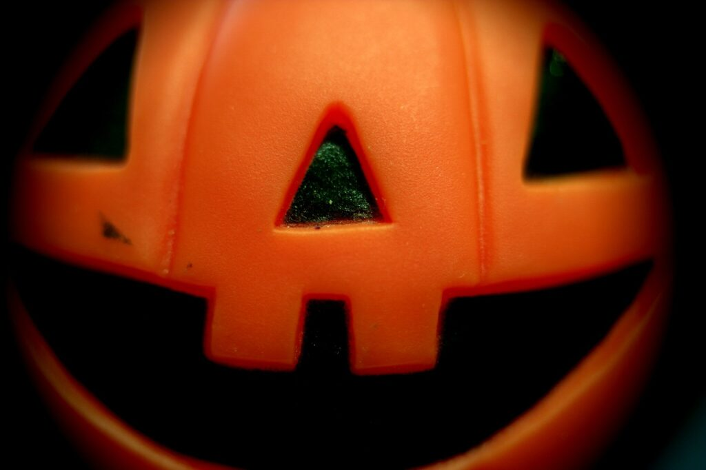 Plastic Pumpkin Face